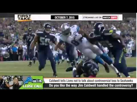 ESPN First Take   Jim Caldwell On No Call Against