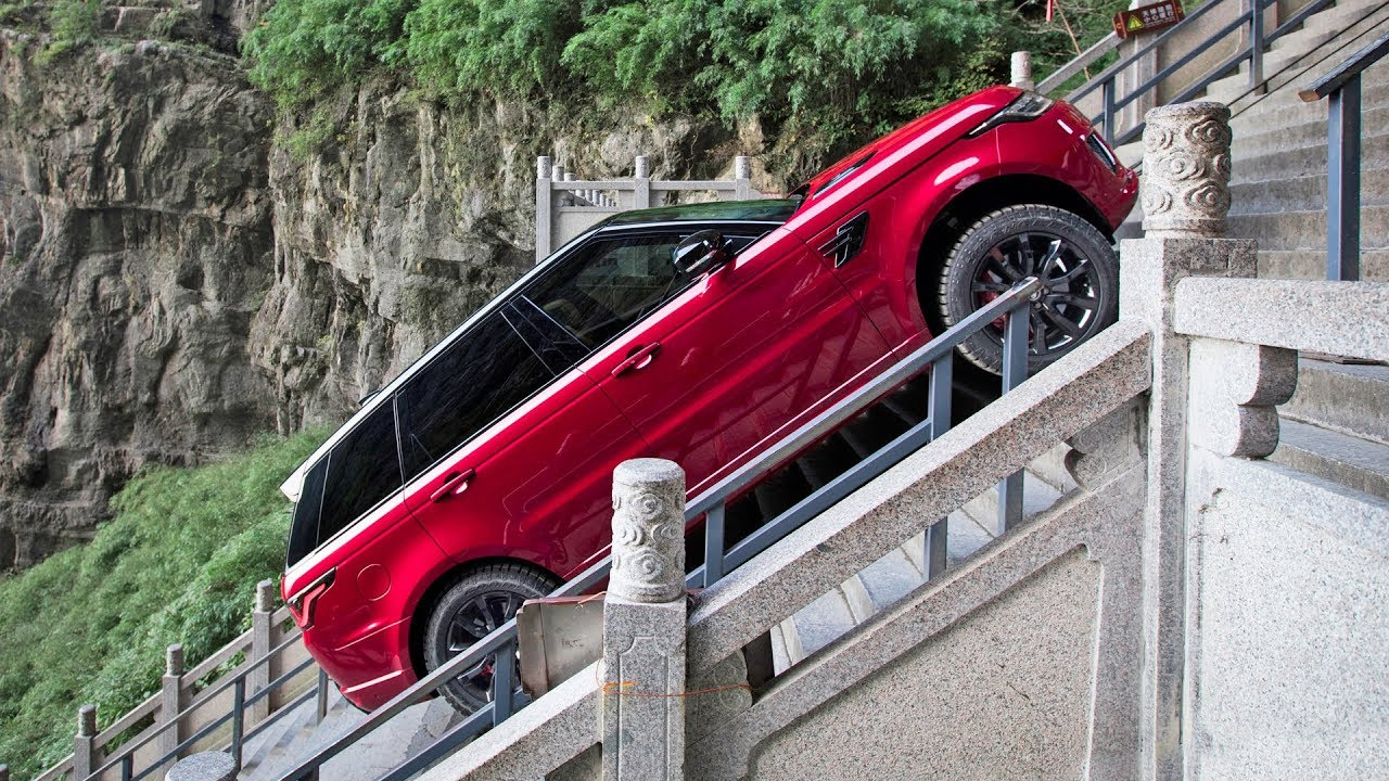 range rover sport (2018) dragon challenge – extreme climb - youtube