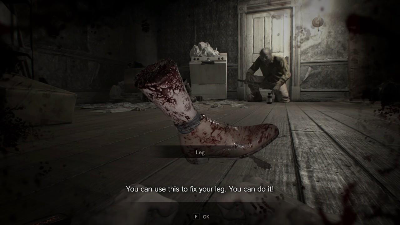 Resident Evil 7 Hidden Leg Cut Off Scene Youtube
