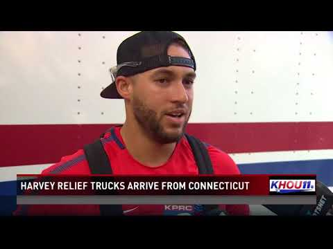 Harvey relief trucks arrive from Connecticut