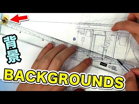 manga BACKGROUNDS - How the PRO Assistants do it