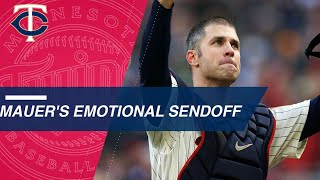 Minnesota shows Mauer love in final game