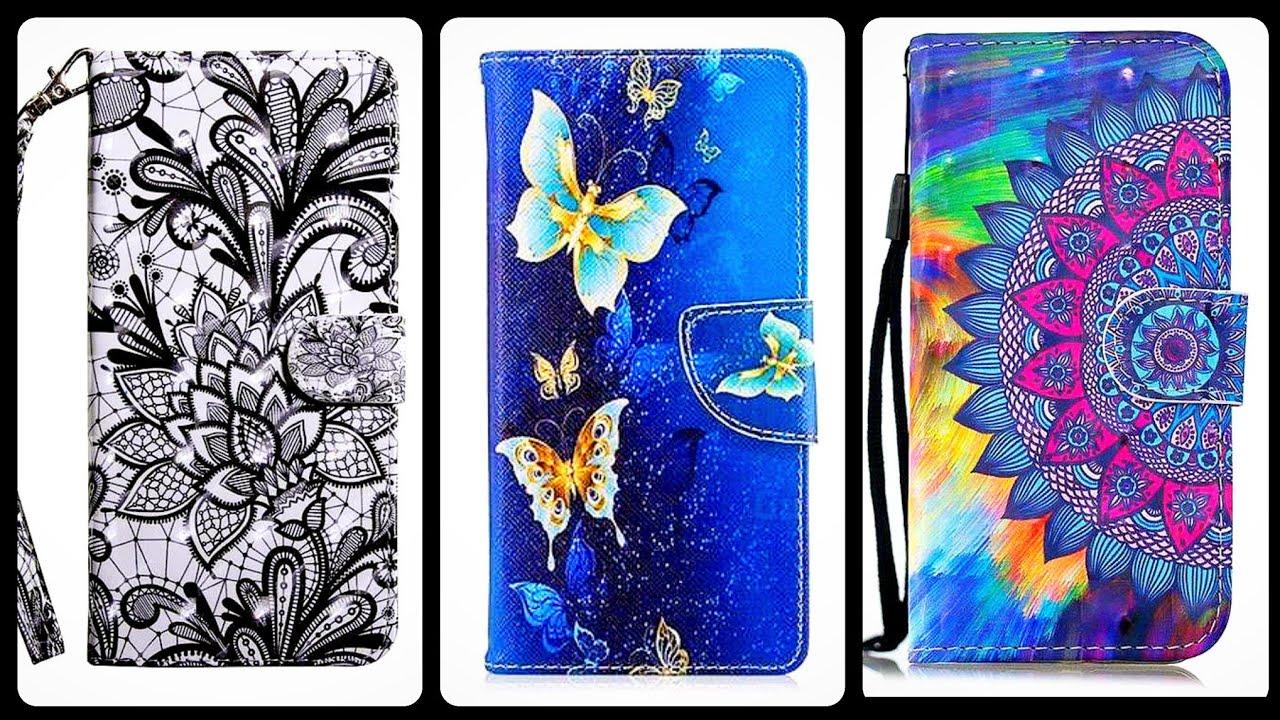 Very Stylish & Beautiful Flowers Flamingos Leathet Wallet For I Phone & Cradit Cards  