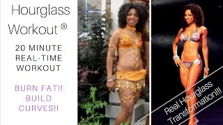 BURN FAT BUILD CURVES!  Real-time Hourglass Workout (20 min @ home)