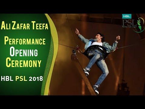 Ali Zafar Teefa Performance | PSL Opening Ceremony 2018 | HBL PSL 2018 | PSL