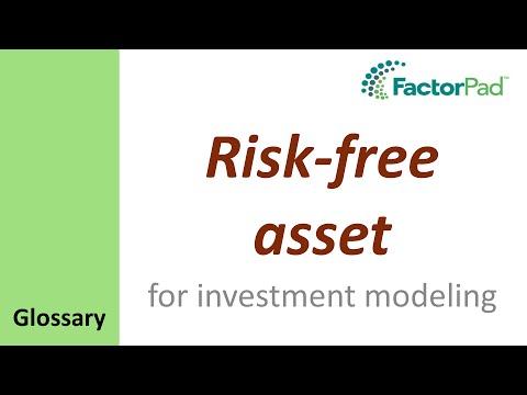 Risk-Free Asset definition for investment modeling