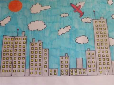 stop motion animation - plane fly over