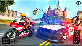 Motorbike Escape Police Chase: Moto VS Cops Car - Gameplay Android game