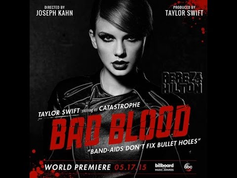 Taylor Swift Bad Blood Music Video At Billboard Music Awards