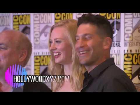 Marvel's The Punisher Comicon 2017 Red Carpet Interview Jon Bernthal Deborah Ann Woll