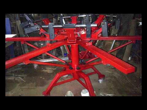 Mesin sablon 6 screen   meja sablon   mesin rotary   manual   surabaya   sidoarjo   murah