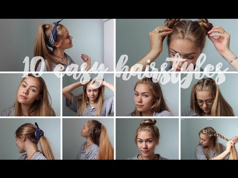 10 Easy Heatless Hairstyles for Medium to Long Hair!!!