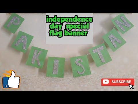 Independence day special flag banner || 14 August diy craft || diy Pakistani flag banner