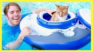 TRYING CRAZY POOL TOYS thumbnail
