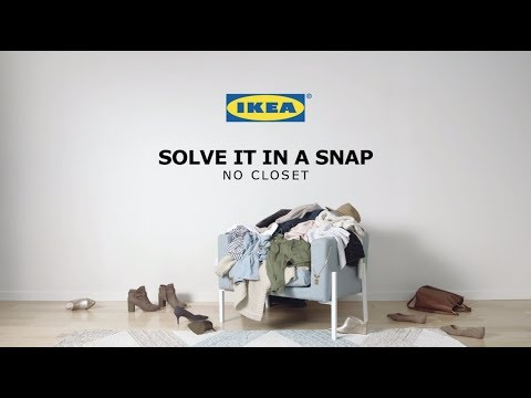 No Closet: Solve It in a Snap by IKEA