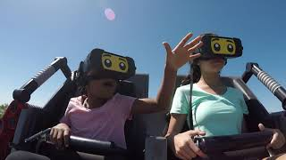 The Great Lego Race VR Coaster at Legoland Florida POV and Full Animation
