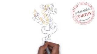 Заяц ну погоди  Как правильно рисовать Ну погоди поэтапно карандашом за 47 секунд(Ну погоди. Как правильно нарисовать волка или зайца из мультфильма Ну погоди поэтапно. На самом деле легко..., 2014-09-11T16:18:35.000Z)