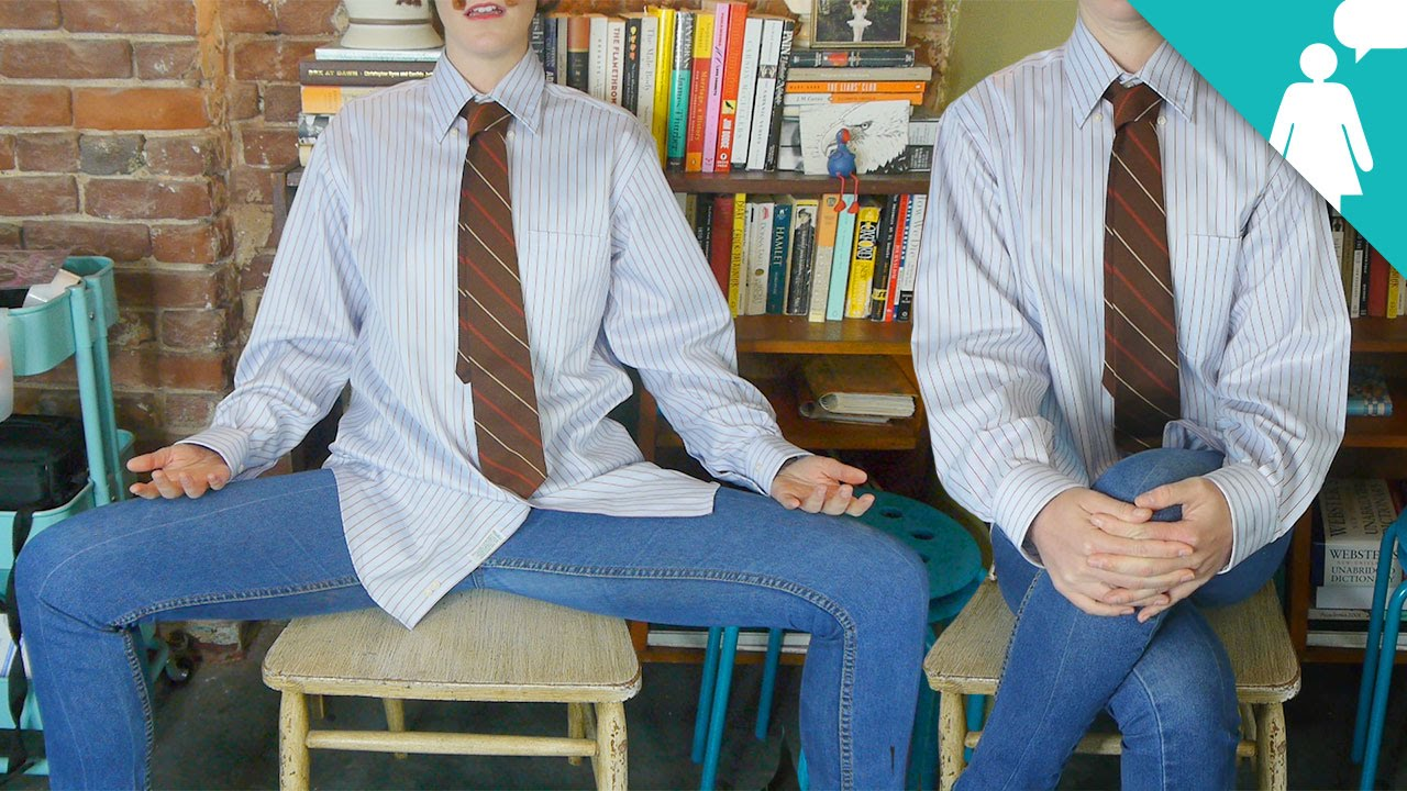 How to sit like a gentleman