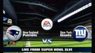 Madden 12 [Wii] Super Bowl XLVI Simulation Patriots vs. Giants