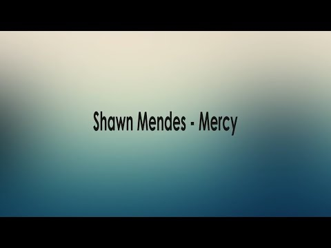 Shawn Mendes - Mercy [Lyric]