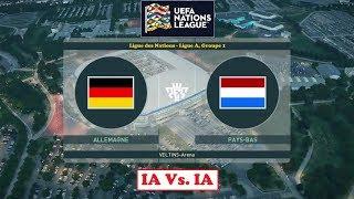 Allemagne - Pays-Bas [PES 2019] | Ligue des Nations (Ligue A/Groupe 1 - Journée 6) | IA VS. IA