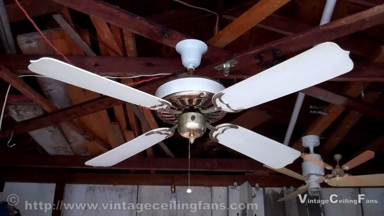 Chadwick Miller Brass White GE Vent Ceiling Fan Before Touch Up
