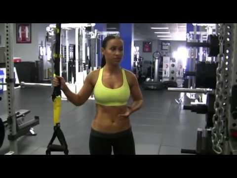 Top Fitness Natalia Muntean shows TRX One Legged Squat