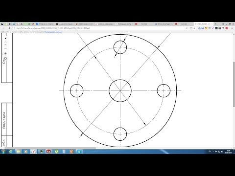 Solidworks. Урок 19.2 Осевые и ЦЕНТРОВЫЕ линии по ГОСТ ЕСКД - создание чертежа