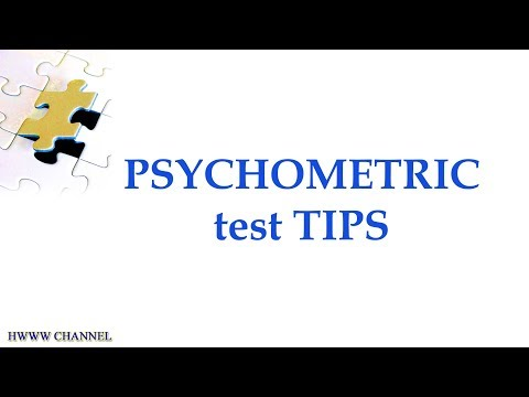 PSYCHOMETRIC TESTING TIPS YouTube