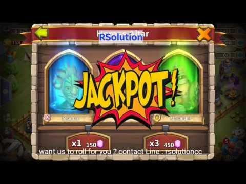 Castle Clash : Jackpot Rolling Trick !