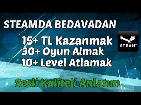 BEDAVADAN 15TL KAZANMAK! STEAMDAN BEDAVA OYUN ALMAK!! STEAMDA BEDAVA LEVEL KASMAK!