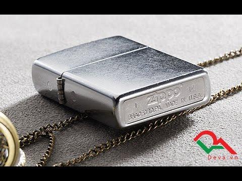 Bật lửa Zippo bạc xước made in U.S.A   Deva.vn