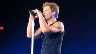 Bon Jovi - Prayer 94 intro / Living On A Prayer - San Antonio - Oct 15 2013