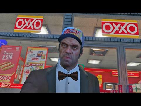 GTA 5 en México: VISITANDO EL OXXO!! (Grand Theft Auto 5)