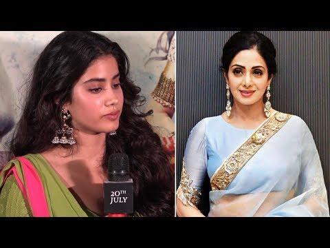 Jhanvi Kapoor gets EMOTIONAL talking about Mom Sridevi At Dhadak Trailer Launch