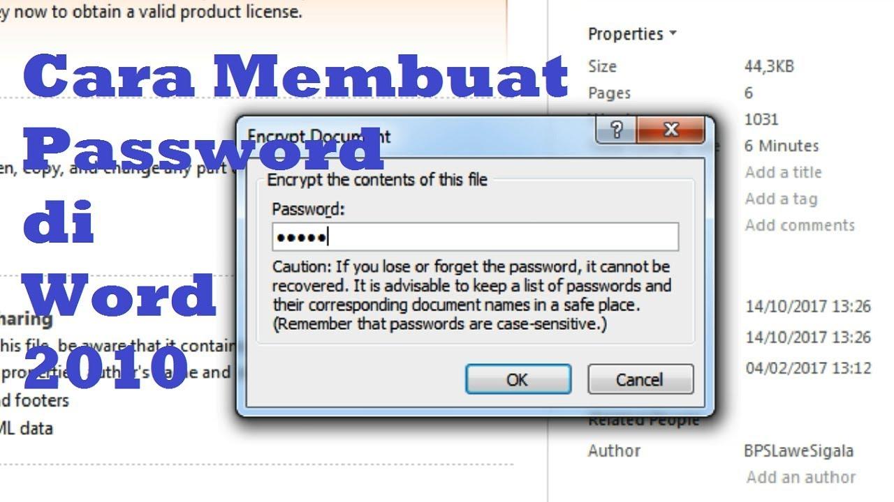 cara mudah membuat password di microsoft word 2010 tips dan trik word