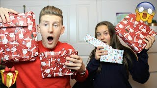 £50 PRESENT SWAP WITH 13 YEAR OLD SISTER!! (OPENING CHRISTMAS PRESENTS EARLY)