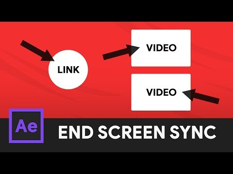 YouTube End Screen Animation & Syncing - After Effects 2018 Tutorial