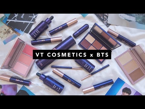 VT Cosmetics x BTS Makeup and Photocards First Impressions Unboxing