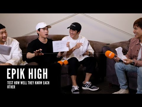 EPIK HIGH Test How Well They Know Each Other