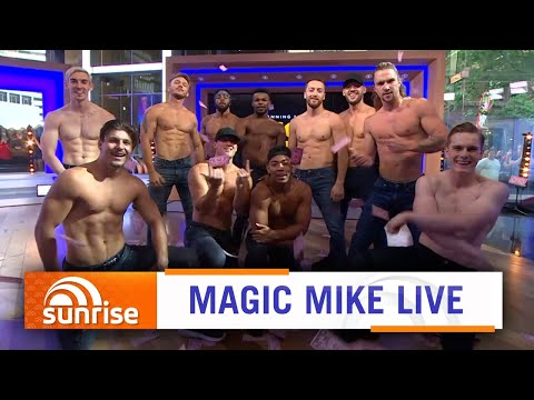 The Cast Of Channing Tatum's 'Magic Mike Live' Show Perform On Australian TV | Sunrise