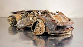 Lamborghini Aventador Restoration Abandoned model