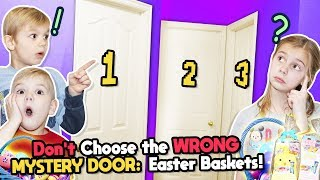 Don't Open The Wrong Mystery Door Easter Baskets! Tannerites Mystery Doors Game! thumbnail