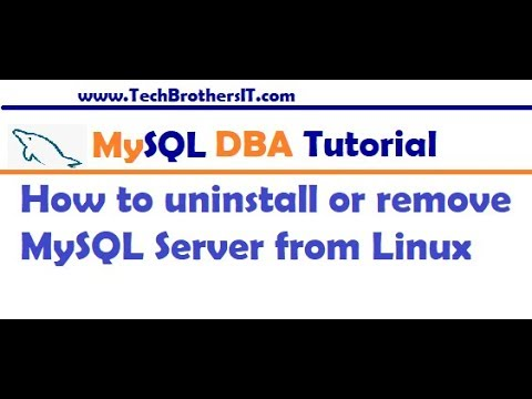 How to uninstall or remove MySQL Server from Linux Machine – MySQL DBA Tutorial