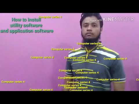 computer series video 4 How to install utility software and application software