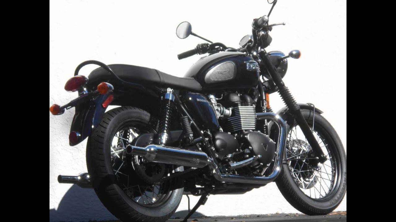 2014 Triumph Bonneville T100 Black First Ride Video Gulf Coast ...