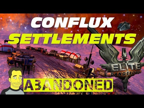 Elite: Dangerous Horizons : Conflux abandoned Settlements and logs  lets play