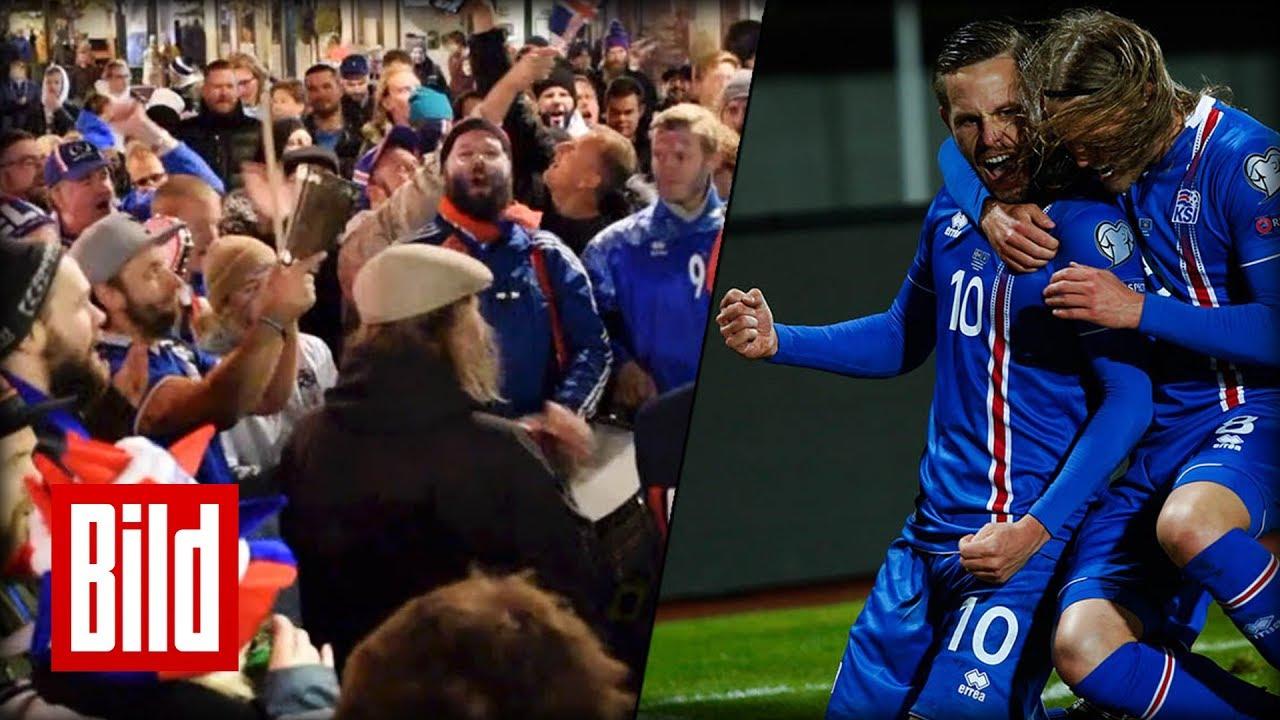 Island Feiert Seine Fussball Helden Wm Quali Geschafft