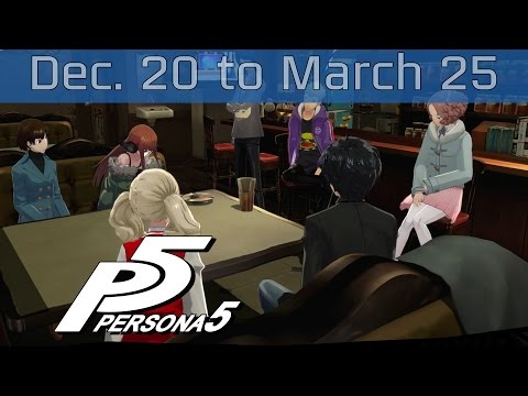 Persona 5 - December 25th: Sunday to March 20th: Monday Walkthrough [HD 1080P]