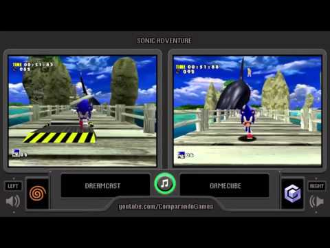 Sonic Adventure (Dreamcast vs Gamecube) Side by Side Compari